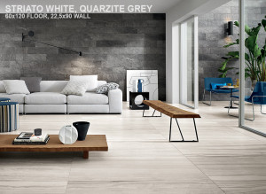 Stone Mix Striato White, Quarzite Grey